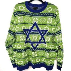 Alex Stevens Hannukah Nights Star Holiday Sweater